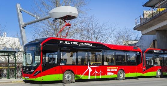 Híbridos eléctricos de Volvo comienzan a operar una nueva ruta en Estocolmo, la capital de Suecia