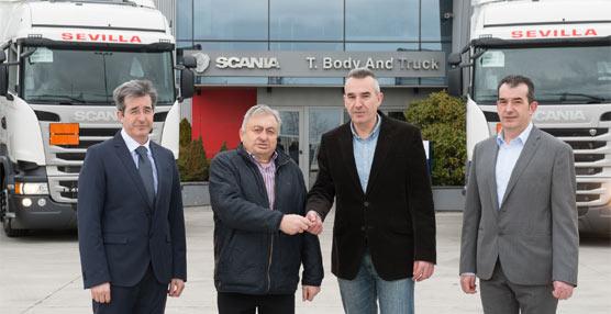 Scania entrega 15 unidades a Transportes Sevilla a través de su concesionario oficial Body&Truck en Burgos