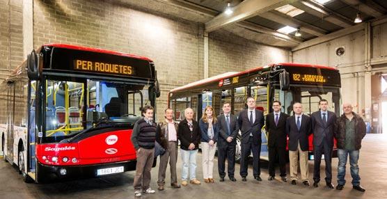 Sagalés presenta cuatro nuevos vehículos Solaris Urbino para el uso en Bus Nou Barris