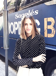 Sagalés colabora con la bloguera Saray Martín para promocionar su nuevo servicio, el Sagalés Shopping Bus