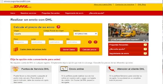 DHL lanza su nueva web, www.enviacondhl.com, para particulares y Pymes con envíos concretos