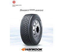 Hankook Tire gana el Red Dot Design Award 2015 por su neumático Truck & Bus Radial, Smart Control AW02