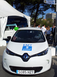 La EMT madrileña participó el pasado 11 de abrilen la Marcha del Vehículo Eléctrico