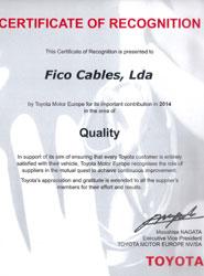 Toyota galardona a los centros de producción de Ficosa en Portugal, Turquía y China