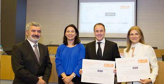 Gefco recoge la certificación Alares 'ESR', que acredita ser empresa responsable con la plantilla