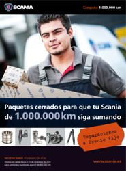 Scania prolonga la campaña preventiva de servicios para vehículos de más de 800.000 km