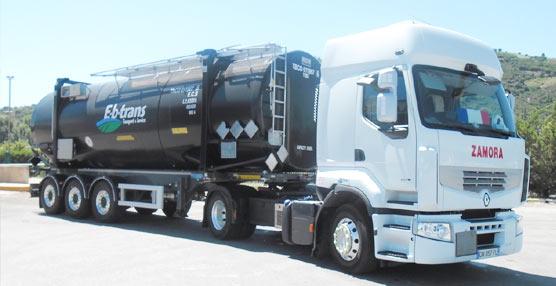 E-b-trans certifica un transporte seguro de materiales peligrosos con los neumáticos para camiones de Continental