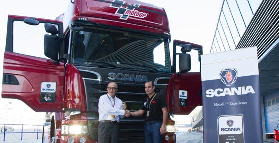 Scania pone a disposición de Dorna 14 camiones con motor V8 para la logística del Mundial de MotoGP