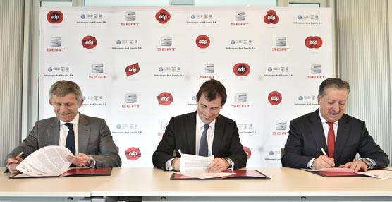 EDP, Seaty Volkswagen-Audi España se alian para impulsar el desarrollo de vehículos e infraestructuras de GNC