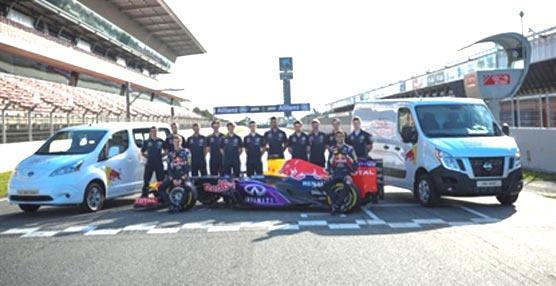 Los vehículos comerciales ligeros de Nissan apoyan al Infiniti Red Bull Racing en Europa