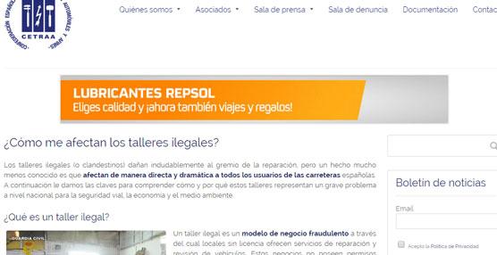 La nueva sección se encuentra en: http://www.cetraa.com/como-me-afectan-los-talleres-ilegales/.