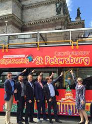 Inauguración de City Sightseeing San Petersburgo.
