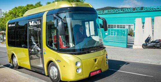 Circula en pruebas para TMB un nuevo modelo de minibús 100% eléctrico