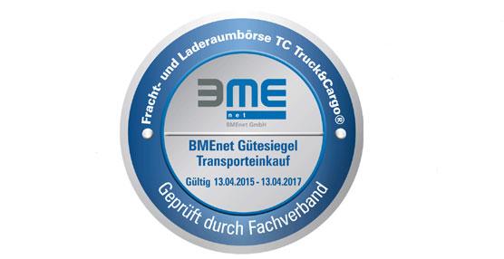 La bolsa de cargas de TimoCom recibe el sello de calidad de BME en la categoría 'adquisición de productos de transporte'