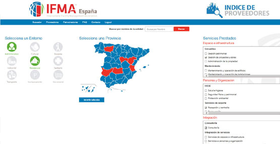 IFMA España lanza una herramienta online, única en el mercado, para la búsqueda de servicios empresariales