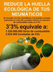 TNU conciencia a los conductores para que reduzcan la huella ecológica de sus neumáticos