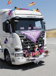 Asetra celebra por todo lo alto en Segovia la festividad de San Cristóbal, patrón de los transportistas