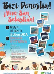 Dbus organiza un concurso de fotografía dirigido a todas las personas que se mueven en sus autobuses por San Sebastián