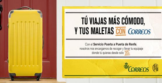 El servicio de equipajes 'Puerta a Puerta' que suministra Correos para Renfe mejora sus prestaciones