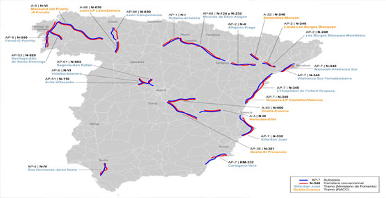 El RACC plantea desviar los camiones a autopistas y autovías en 24 tramos de la Red de Carreteras del Estado