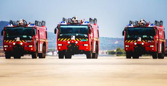 El Aeropuerto de Palma pone en servicio los primeros camiones contraincendios Magirus Dragonx6 de nueva generación