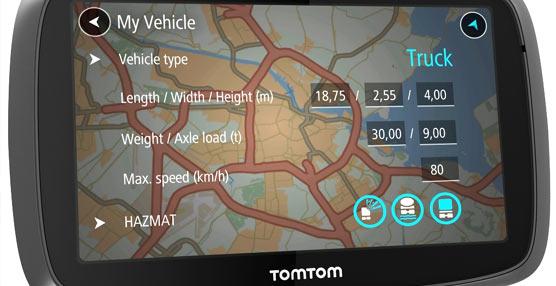 TomTom lanza el TRUCKER 5000 un sistema para sacar el máximo partido a los tiempos de conducción