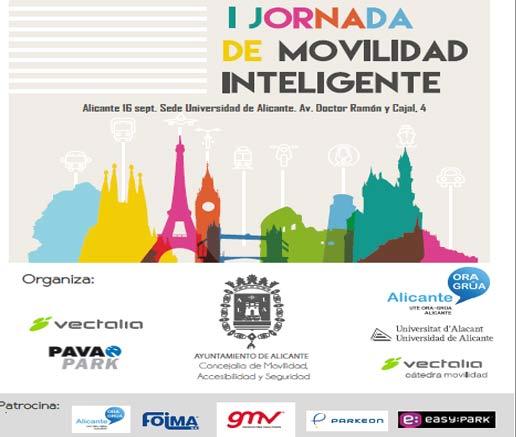 Alicante acogerá la I Jornada de Movilidad Inteligente, donde se tratarán las cuestiones derivadas de las nuevas tecnologías