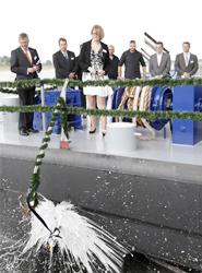 El Grupo Rhenus celebra la ceremonia de botadura para el primer barco europeo de navegación fluvial con tecnología Flex Tunnel