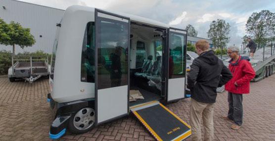 El autobús autónomo holandés WEpod comenzará sus pruebas el próximo mes de noviembre