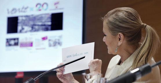 """La presidenta de la Comunidad de Madrid, Cristina Cifuentes, ha presentado en el Consejo de Gobierno """"Vente x 20""""."""