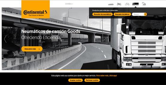 Continental España renueva su página web con información específica y detallada de todos sus departamentos