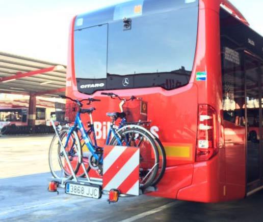 Un nuevo vehículo se acaba de sumar a Bilbobus con el portabicicletas incorporado como experiencia piloto