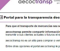AECOC impulsa Aecoctransp, plataforma 'online' para cargadores y transportistas
