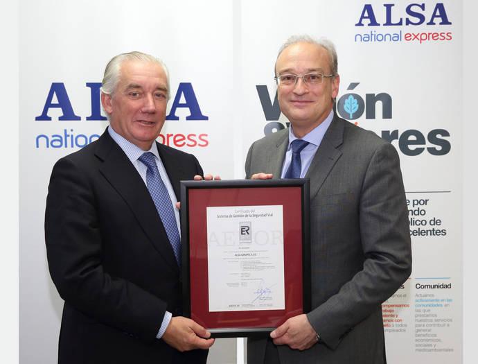 Alsa amplía la certificación de Seguridad Vial de Aenor a toda España