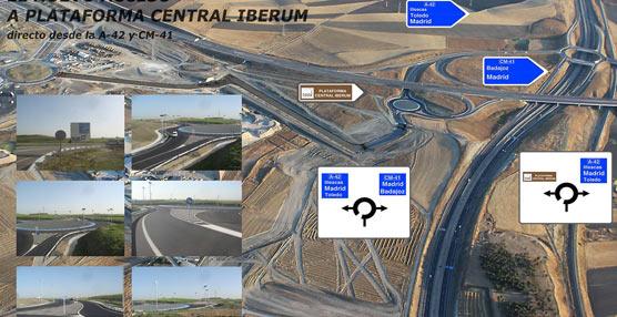 Nuevo acceso a la Plataforma Central Iberum desde CM-42 y A-42