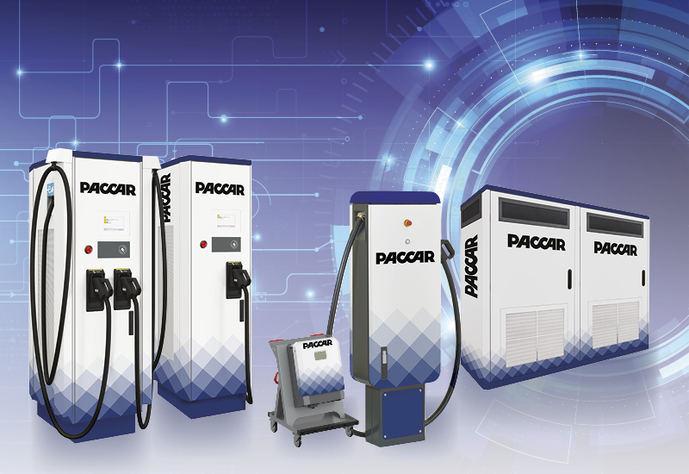 DAF presenta estaciones de carga para eléctricos