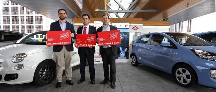 La Tarjeta Transporte Público da acceso a los coches 'carsharing' de Madrid