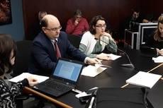 La presidenta de TMB, Mercedes Vidal, y el consejero delegado, Enric Cañas.