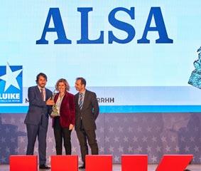 Recursos Humanos de Alsa recibe el premio 'Estrella Luike'
