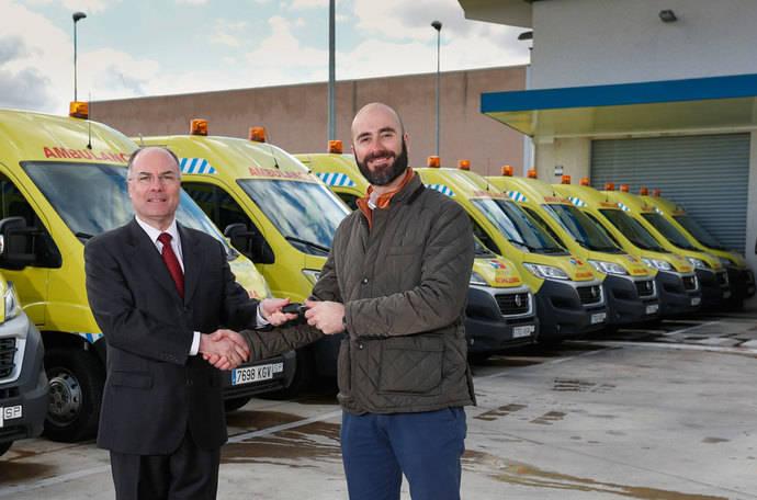 Fiat Professional entrega 150 Ducato para transporte sanitario en Madrid