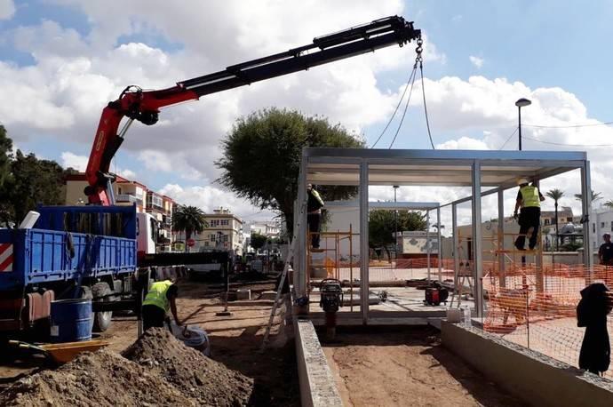 Avanzan las obras del intercambiador de autobuses en Chiclana de la Frontera