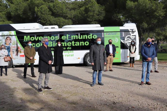 Aragón inicia un servicio regular con un vehículo de biogás