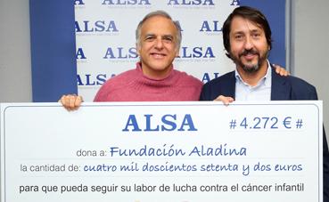 Alsa y sus empleados, con la Fundación Aladina