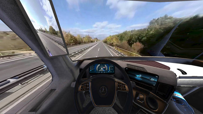 Daimler forma a los conductores con un simulador móvil