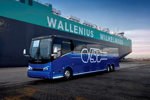 Van Hool envía a EEUU su primer autocar eléctrico