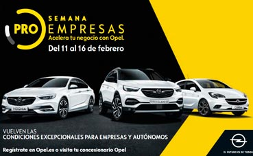 Semana Opel Pro Empresas con descuentos especiales