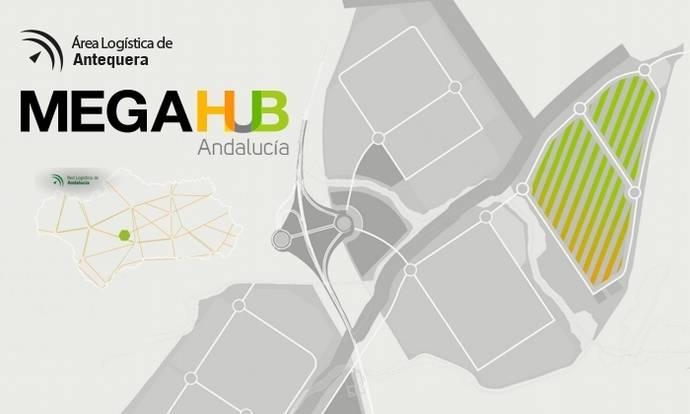 Cartel promocional del nuevo centro logístico andaluz.