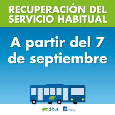 Dbus recupera el servicio habitual de transporte urbano