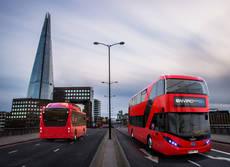 Autobuses eléctricos de Londres.