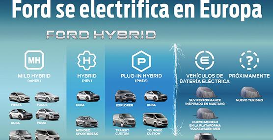 Ford desvela su línea de electrificados, que superarán en ventas a los convencionales
